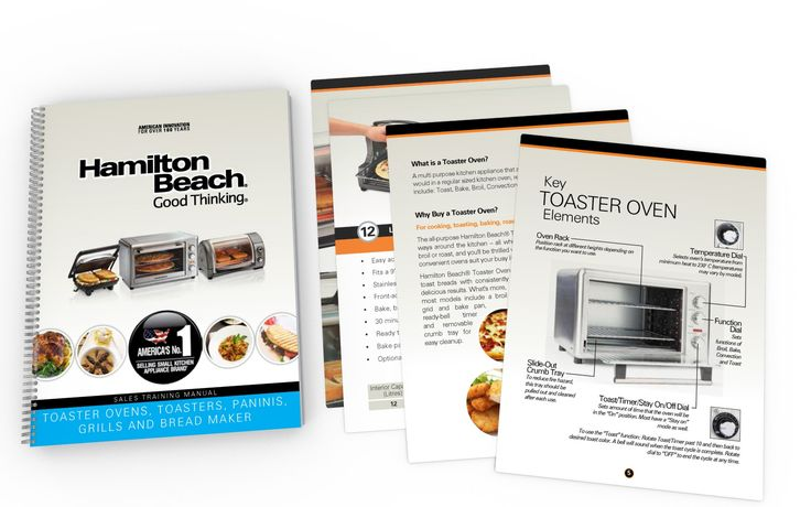 Sales Training Booklet (Toaster/ Ovens) Design for HAMILTON BEACH BRANDS (USA)