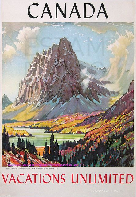 Canada Mont Eisenhower From The Painting By A C Leighton 74x100 Imp Canadian Government Travel Bureau | Flickr - Photo Sharing!