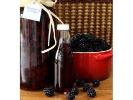 Blackberry Vinegar - steeped in the sun like tea.