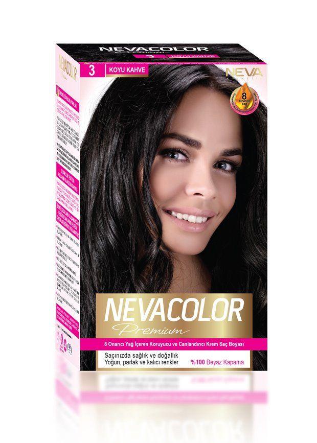 Nevacolor Premium Sac Boyasi 3 Koyu Kahve Sac Boyasi Sac Yag