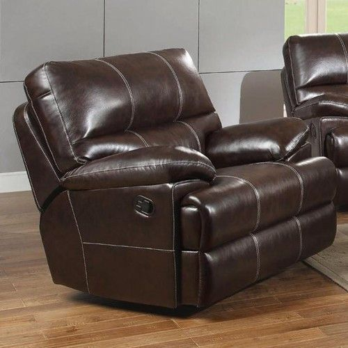 Kevin Transitional Glider Recliner with Pillow Arms