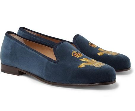 Camo Vert Pantoufles En Coton Needlepoint De Stubbs & Wootton UN4K5tYwa9