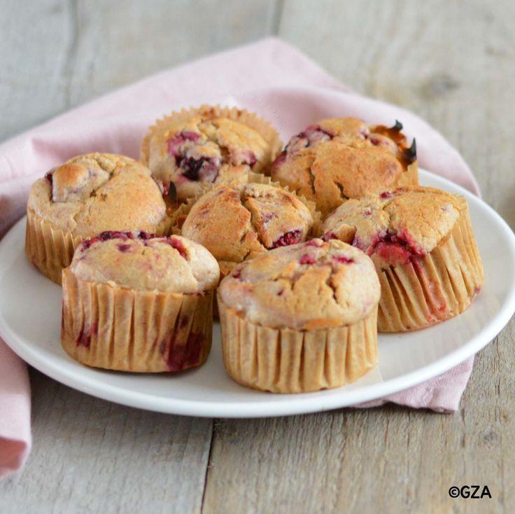 Frambozen muffins. #sojavrij #eivrij #lactosevrij #fructosearm #notenvrij