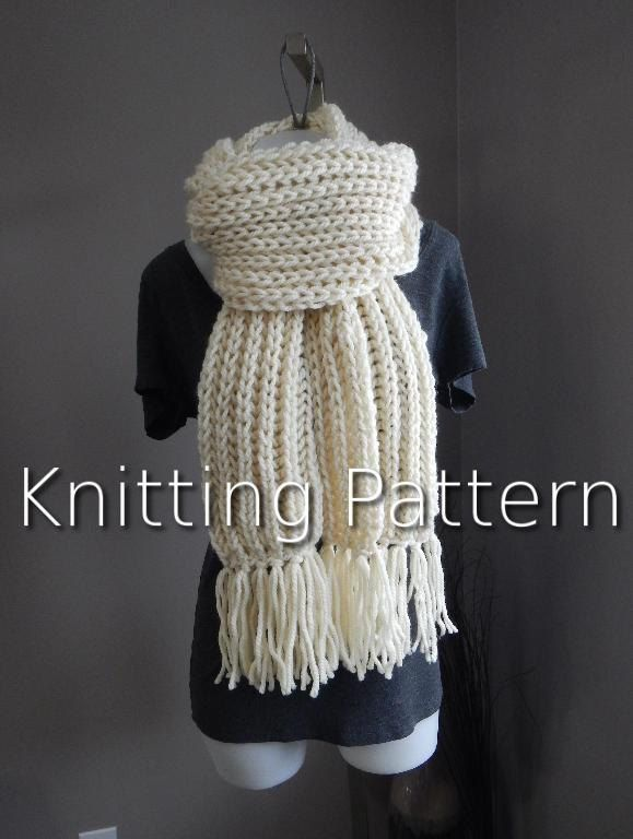 Knitting Pattern, The INSTANT download, -------THE BIG Squishy Scarf------ Modern pattern, blanket scarf pattern, bulky yarn pattern by LoveEweNatural on Etsy