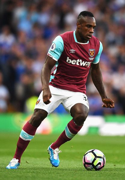 Michail Antonio in action during the Premier League match…