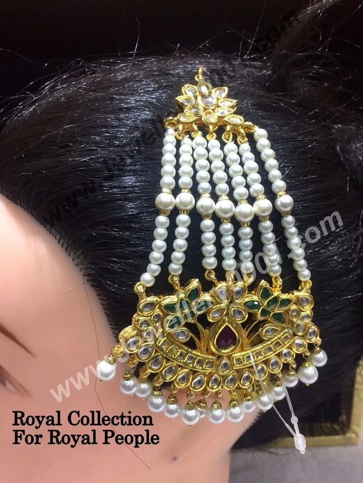 Reasonable Prices – Best Deals on Pasa- Side Head Piece Jewellery. Shop Kundan Red Green Jhumar for Women with free shipping at Vijay and Sons. Order now click here: