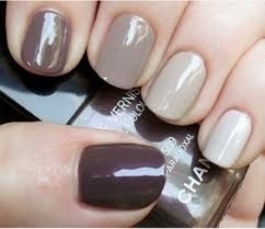 Try doing each nail in a different neutral or every other nail using just 2 shades.  Then add a design on just one or two!
