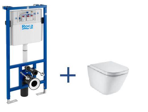 Stelaż podtynkowy Duplo + miska WC podwieszana GAP Clean Rim