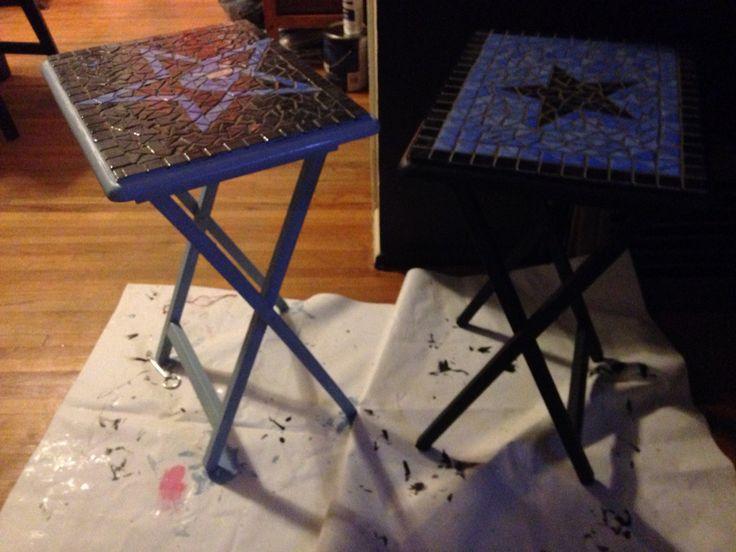 Mosaic Star design TV trays