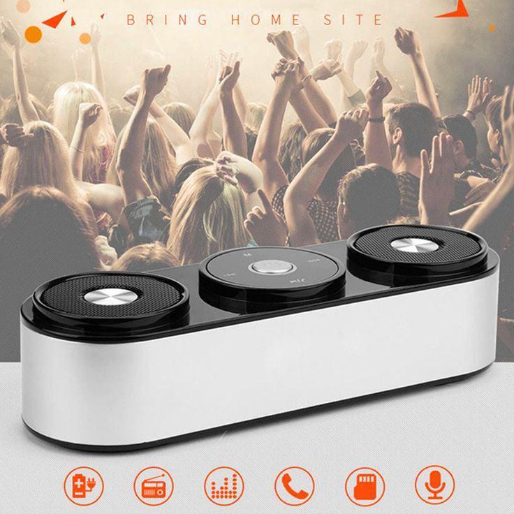 Powerful Bass Surround Sound Touch Control Stereo Wireless Bluetooth Speaker Jespeaker02 Handsfree TF FM Radio  MP3 Player