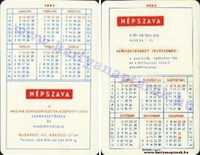1963 - 1963_0091 - Régi magyar kártyanaptárak