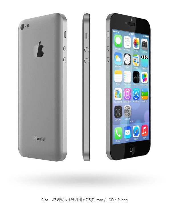 iPhone 6 concept that we'd like to see Apple turn into reality  The design of the iPhone 6 concept with a display of 4.9-inch shown below is so classy!