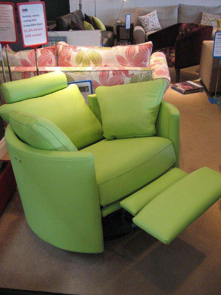 This Zingy Lime Green Leather Was A Huge Success On Our Fabulous Electric  Recliner. It