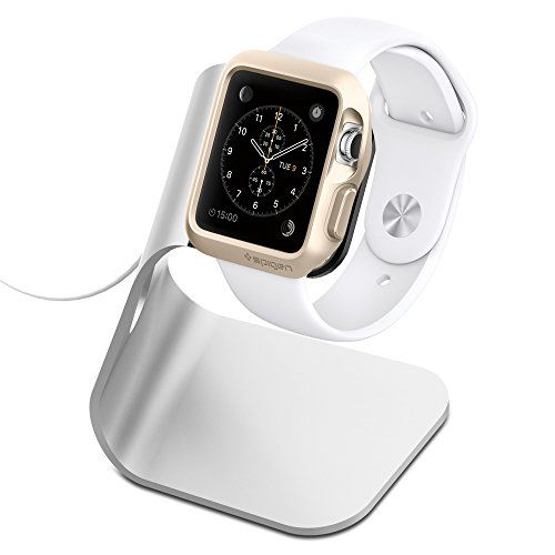 Apple Watch Stand, Spigen® [Charging Dock] Apple Watch Charging Stand [Apple Watch Stand] [S330] Aluminum cradle holds Apple Watch – [Charging Cable, Watch & case NOT INCLUDED] Quick connection for Apple Watch – S330 (SGP11555) | GHomies http://ghomies.com/apple-watch-stand-spigen-charging-dock-apple-watch-charging-stand-new-apple-watch-stand-s330-aluminum-build-cradle-holds-apple-watch-charging-cable-watch-case-watch-not-include/  #apple #watch #charger #cradle #stand