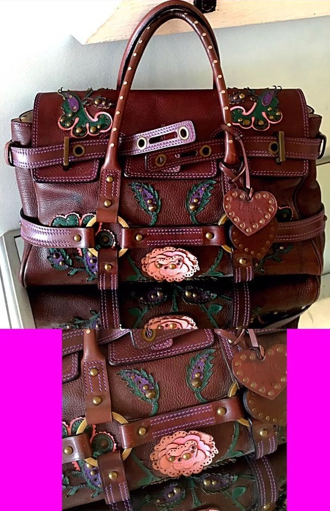 Luella Bartley Giselle Leather Western Embroidered Studded Handbag  | eBay