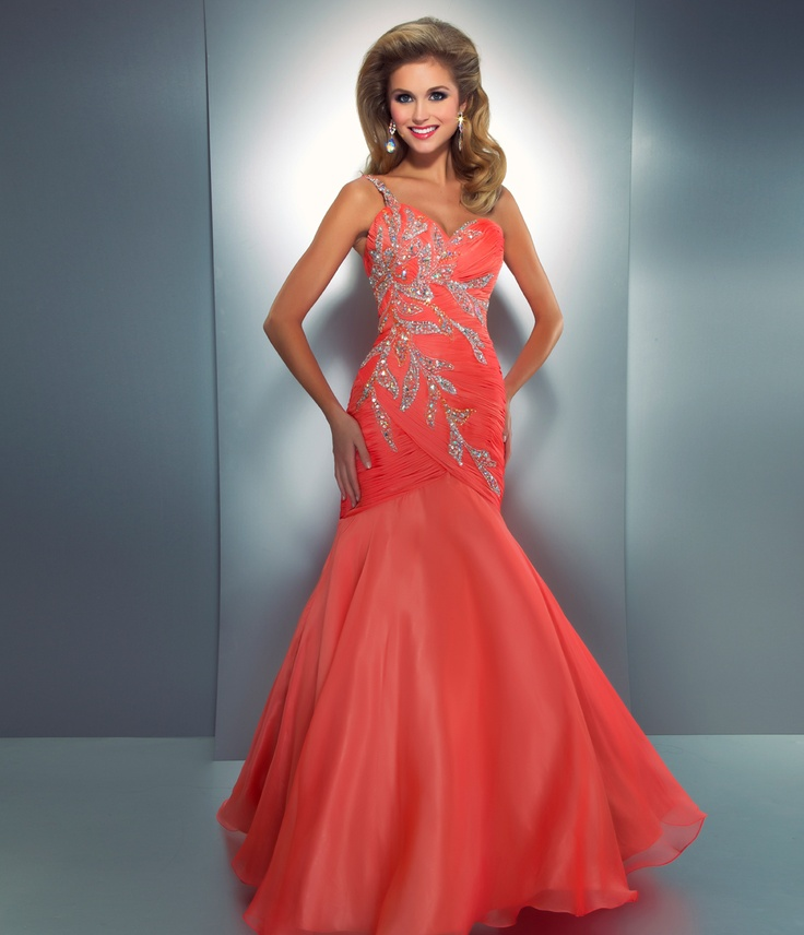 Coral Prom Gowns