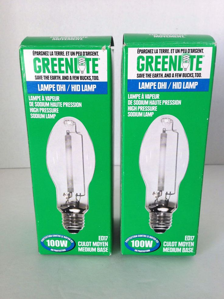 Fabulous Greenlite HID ED LUMED Sodium High Pressure Medium Base Lamp Light W
