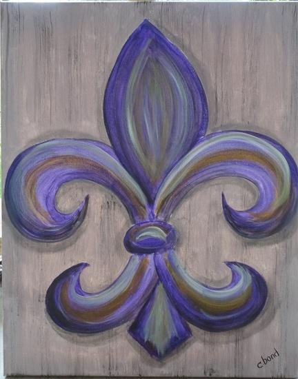 Fleur de Lis-paint this, just in different colors