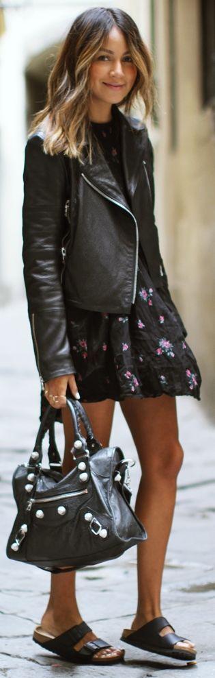Wilfried Black Floral Trapeze Hem Little Dress by Sincerely Jules