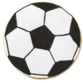 If your goal is to decorate an easy, fun treat, these soccer ball cookies are the way to go! Use White Sugar Sheets!™ Edible Decorating Paper and black FoodWriter™ Edible Color Markers to draw the design.