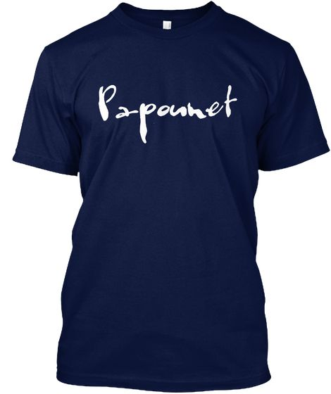 Papounet Navy T-Shirt Front