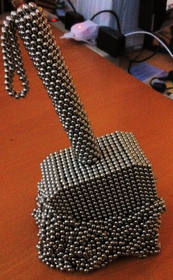 Thor's hammer, made of Bucky Balls.