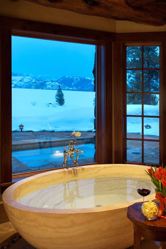 dustjacket attic: Destinations | A Luxury Lodge In Wyoming