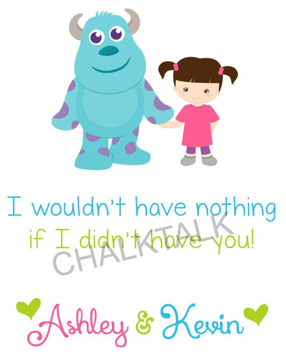 Monsters Inc Nursery Decor  If I Didn't Have by ChalkTalkDesigns