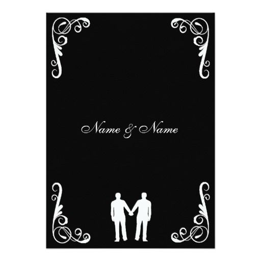 Groom And Groom Gay Wedding Invite