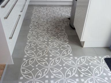 Oval Gris Portugese cementtegel van Designtegels.nl