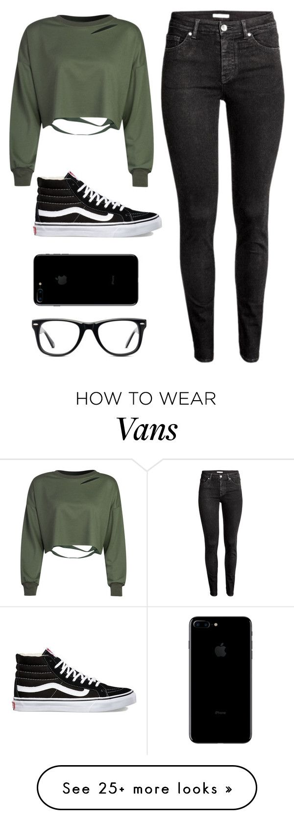 """"" by samhic on Polyvore featuring WithChic, H&M, Vans and Muse"