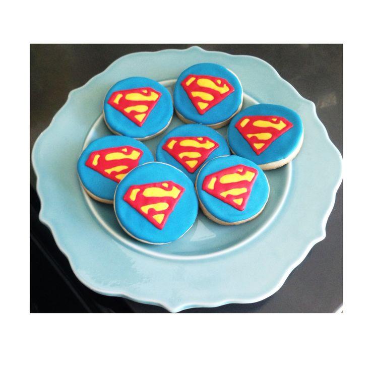 Custom Superman Cookies  @sugarlovecookiesdesigns FB sugar love cookie designs