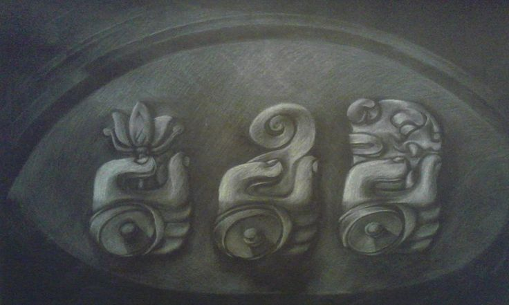 Logotipo al lápiz blanco sobre negro 50 x 70 cms. (ejemplo)