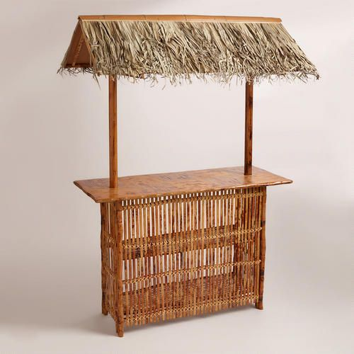 I need to convince Scott that this is necessary for our new house!!  One of my favorite discoveries at WorldMarket.com: Tiki Bar with Roof