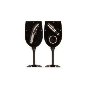 Kikkerland Wine Glass Bar Set