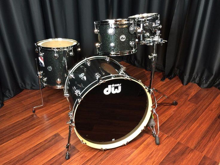 DW Drums sets Drum Workshop Black Ice Collectors Series Maple 4 piece Kit New