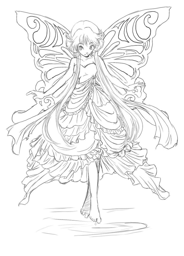 701 best Fairies to Color images on Pinterest | Print coloring ...