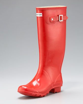 Red Huntress Boots  Huntress+Welly+by+Hunter+Boot+at+Neiman+Marcus.