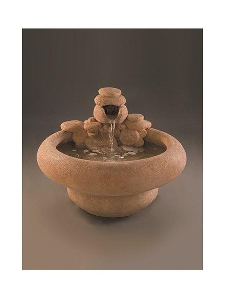 Serenity Cast Stone Garden Fountain - Large