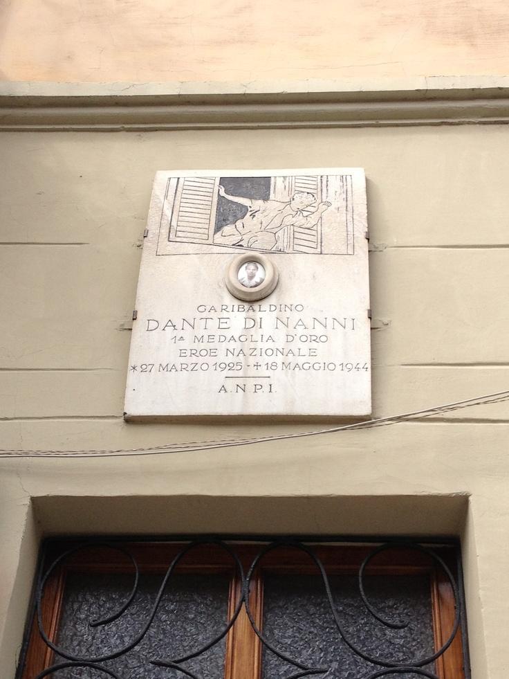 Dante di Nanni (garibaldino - 1a medaglia d'oro, eroe nazionale) - Via San Bernardino, Torino