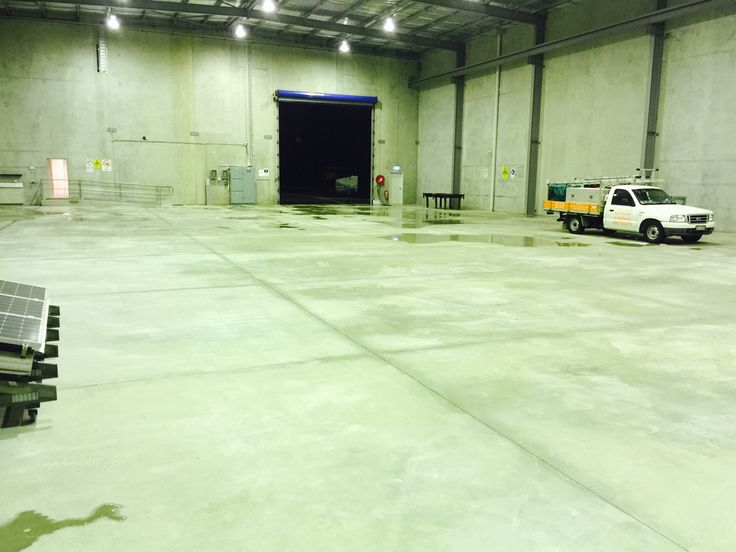 The Successful Acid wash of this warehouse floor was very satisfying for the owner.