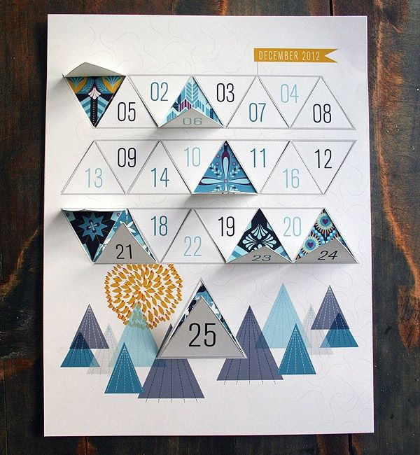 184 best diy calendrier de l 39 avent en papier carton images - Calendrier design ...