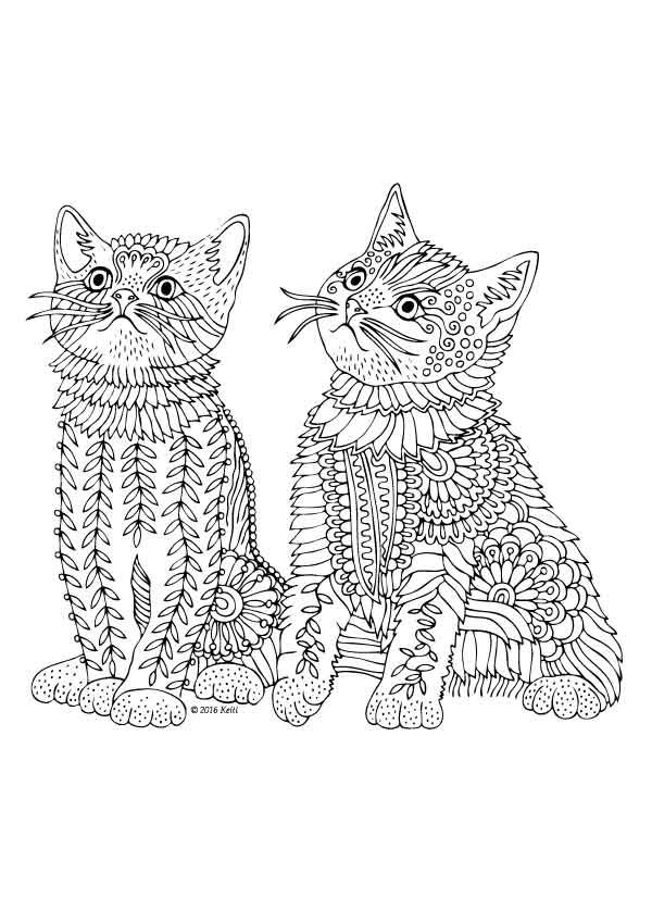 1176 best coloring pages images on pinterest | coloring books ... - Coloring Pages Cats Kittens