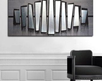 Abstract Metal Art Wall Decor, Contemporary Metal Wall Art, Metal Wood Wall  Art,