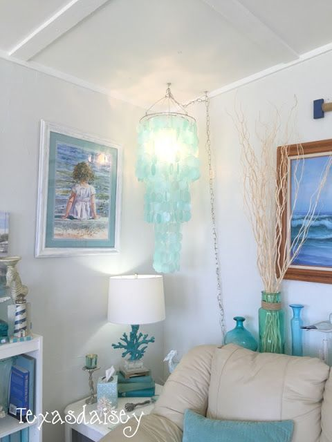 How to make a capiz shell chandelier without breaking the bank 7                                                                                                                                                     More