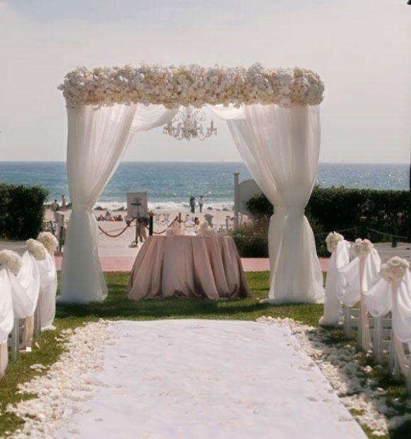 elegant beach wedding decoration