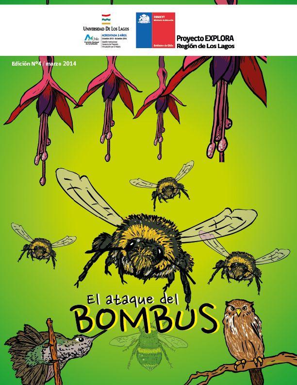 """""""El ataque del Bombus"""", guión e ilustración Walter Velásquez, asesoría científica Doctor Carlos Valdivia"""