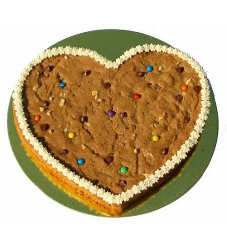 #Love is sweeter when you #send beautiful thoughts and #delicious #treats!This pretty #heart-shaped butterscotch #chocolate chip #cookie #cake is sure to satisfy your loved ones ' sweet tooth. Soft, thick and chewy, with lots of chocolate chips, decorated with buttercream icing rosettes and topped with multi-colored mini M&Ms.Available for nationwide #delivery!#online #cake #Delivery To #philippines. For More Collection Visit: http://bit.ly/1PoyWUb