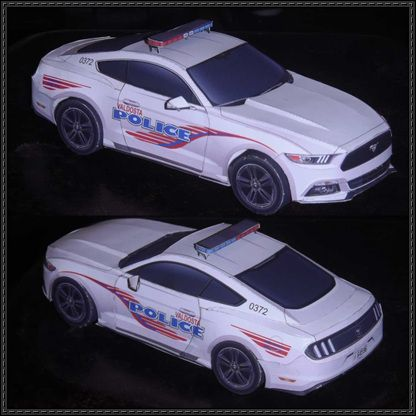 Valdosta police 2015 ford mustang paper car free vehicle for Ford motor vehicle models
