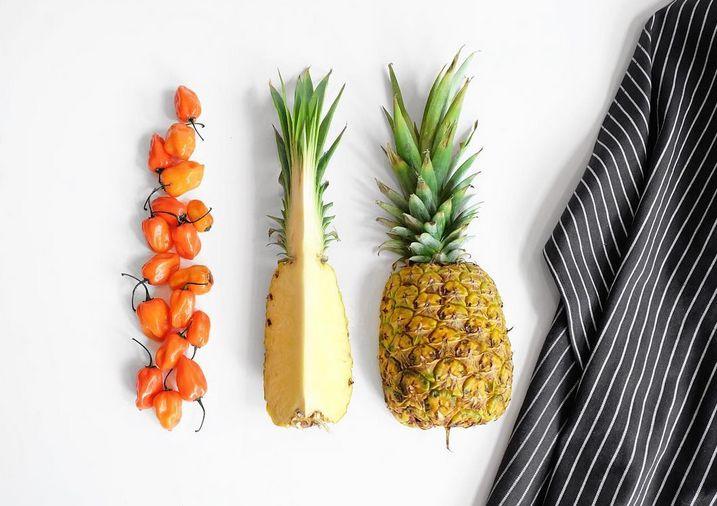Spicy and sweet. #PineappleHabeneroHotSauce #JonnyHetheringtonEssentials #HotSauce #HabaneroSauce #Habanero #Pineapple #Spicy #Hot #Natural #EssentialHotSauce #Ingredients #Essential #GetSpicy #ArtOfDining #Vancouver #Cooking #Chef #Food #Foodporn #Yummy #PicOfTheDay #Heat #Foodstagram #FoodPhotography #FoodStyling #GlutenFree #Vegan #InstaFood #SpicyPairing #Apron